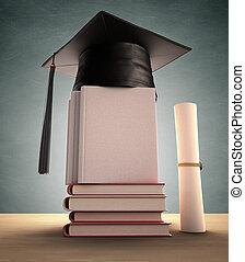 dekking, afgestudeerd