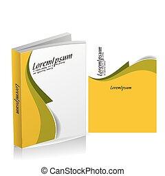 dekking, boek, ontwerp