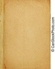dekking, papier, oud, boek, pagina