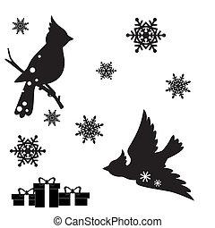 dekoráció, állhatatos, karácsony