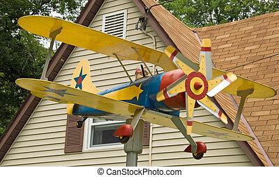 dekoráció, épület, repülőgép