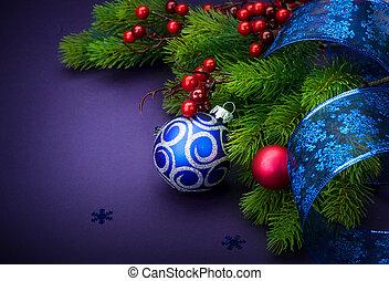 dekoráció, új, karácsony, év