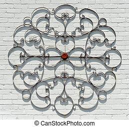 dekoráció, elvont, fém