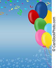 dekoráció, helyett, születésnap, és, fél