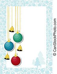 dekoráció, karácsony, háttér