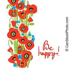 dekoráció, nyár, virág