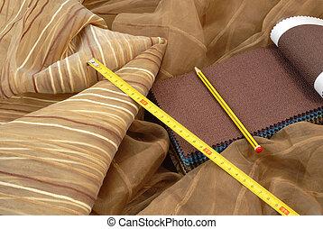 dekoráció, textil, otthon