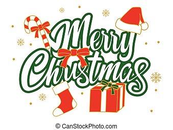 dekoráció, white christmas, elszigetelt