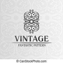 dekor, emblem, weinlese, verzierung, etikett, hintergrund