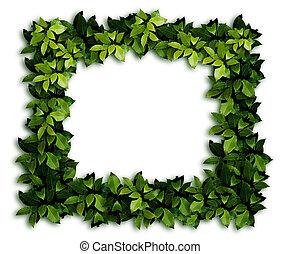 dekor, grön