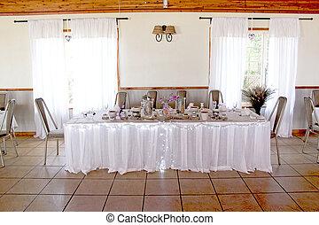 dekoracje, miejsce rozprawy, przyjęcie, ślub