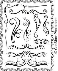dekoracyjne brzegi, komplet, 1