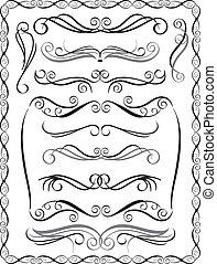dekoracyjne brzegi, komplet, 2
