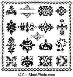 dekoracyjne elementy, projektować, (black)