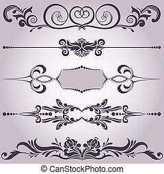 dekoracyjne elementy, zbiór, 6