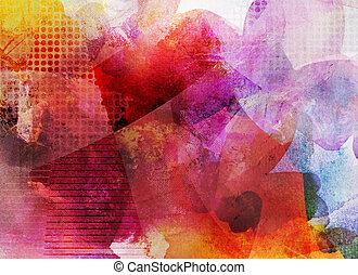 dekoracyjny, abstrakcyjny, dzieło