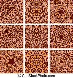 dekoracyjny, arabszczyzna, tła, seamless, próbka