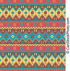 dekoracyjny, dekoracyjny, pattern., seamless, tekstylny, jasny, etniczny, pasiasty, krajowiec