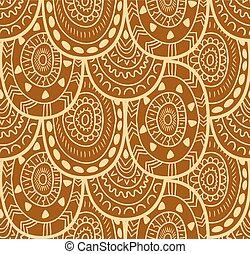dekoracyjny, dekoracyjny, próbka, seamless, tekstylny, tło., vector., etniczny, krajowiec, bez końca