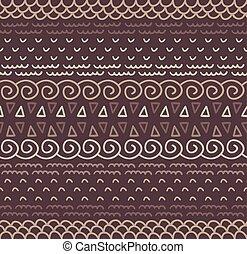 dekoracyjny, dekoracyjny, próbka, seamless, tekstylny, vector., etniczny, pasiasty, krajowiec