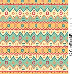 dekoracyjny, dekoracyjny, próbka, seamless, tekstylny, vector., etniczny, pasiasty