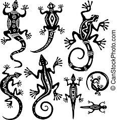 dekoracyjny, jaszczurki