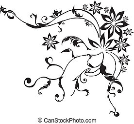 dekoracyjny, kwiaty