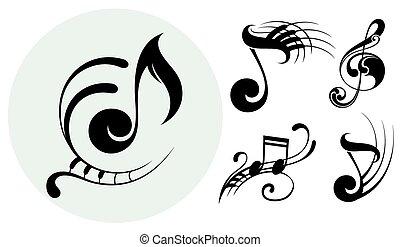 dekoracyjny, muzyka notatnik