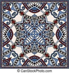 dekoracyjny, paisley, to, korzystać, bandanna., tradycyjny, ...
