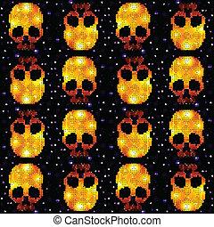 dekoracyjny, próbka, czaszka