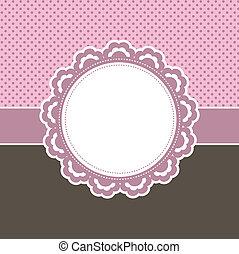 dekoracyjny, różowe tło