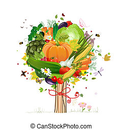 dekoracyjny, roślina, drzewo