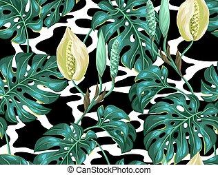 dekoracyjny, tekstylny, strzyżenie, robiony, tło, flower., ...