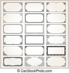 dekoracyjny, układa, i, brzegi, prostokąt, 2x1, rozmiar, komplet, 2
