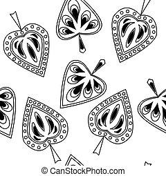 dekoracyjny wzór, liście, seamless