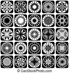 dekoracyjny zamiar, elements., próbka