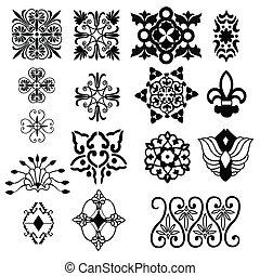 dekoracyjny zamiar, elementy