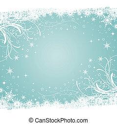 dekoracyjny, zima, tło