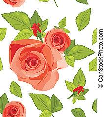 dekoratív, agancsrózsák, háttér