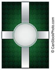 dekoratív, backgroun, elvont, zöld