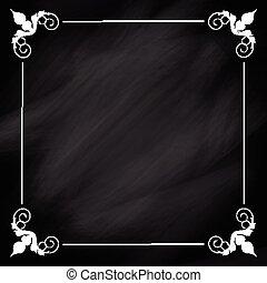 dekoratív, chalkboard, háttér