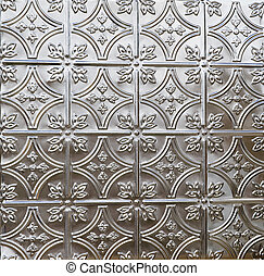 dekoratív csempe, ón, plafon