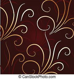 dekoratív, csinos, alapismeretek, háttér, vektor