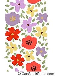 dekoratív, floral határ