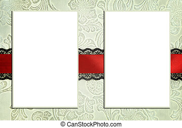 dekoratív, fogalom, scrapbook, fénykép, photobook, frames.,...