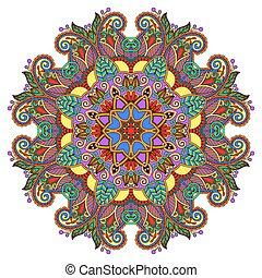 dekoratív, lelki, indiai, jelkép, közül, lotus virág