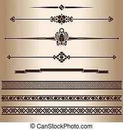 dekoratív, lines.