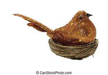 dekoratív, madár