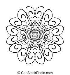 dekoratív példa, örvény, tervezés, ábra