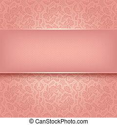 dekoratív, rózsaszínű, díszítés